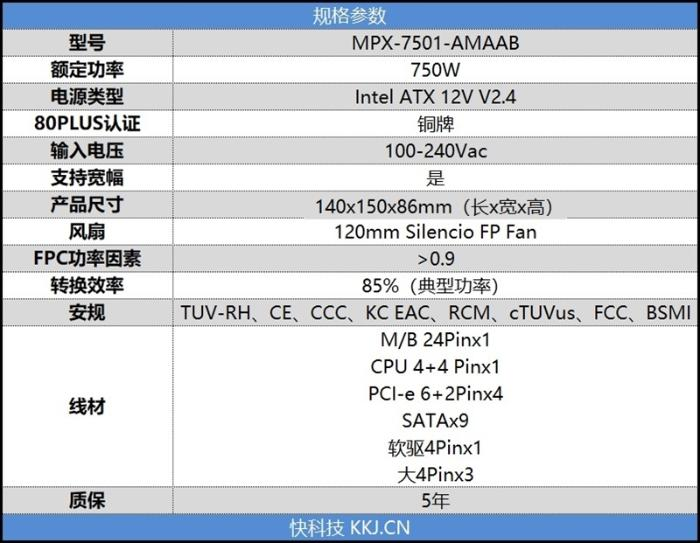 低负载风扇停转!酷冷至尊750 TUF Gaming Edition电源评测