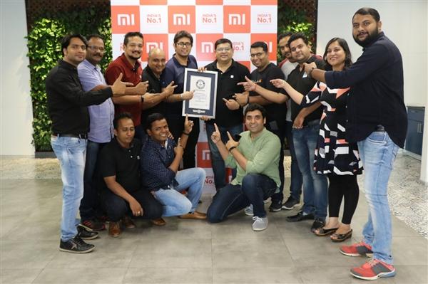 小米印度获吉尼斯纪录 成为印度开店最多企业