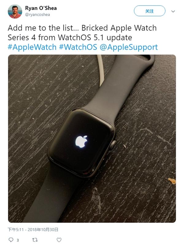 因出现少量手表变砖问题:苹果暂停推送watchOS 5.1更新