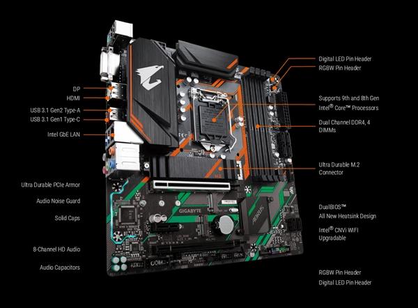 技嘉发布B360M Aorus Pro小主板:想要的全都有