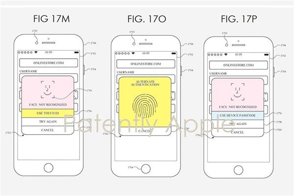 苹果新专利暗示指纹识别将重回iPhone:与Face ID并存