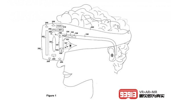 该处方眼镜专利包含眼动跟踪传感器支持VR头显