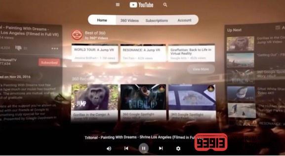 YouTube VR上线HTC Vive等多个平台