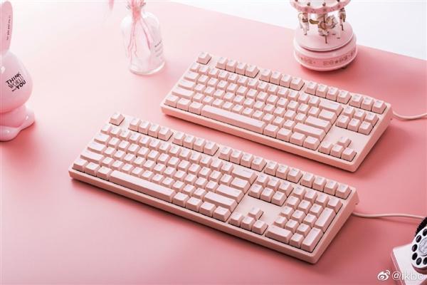 ikbc发布粉色机械键盘:看后少女心爆棚