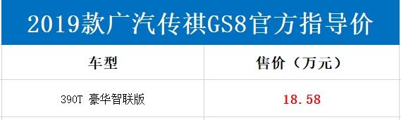 动力比汉兰达还强!传祺GS8 390T车型上市:18.58万起