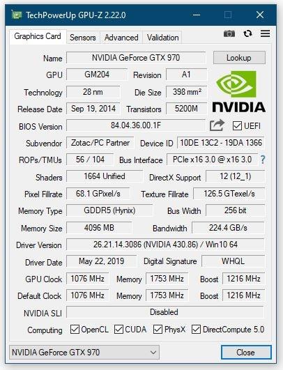 GPU-Z 2.22.0发布:支持AMD Navi、NVIDIA Super新显卡