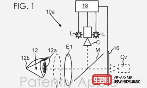 苹果公布AR/VR头显无漂移眼动追踪专利