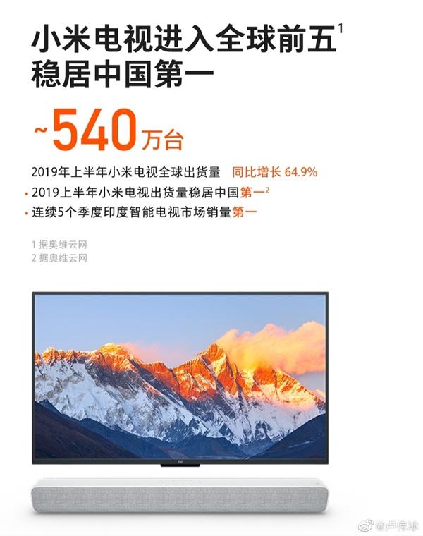 坚持极致性价比 卢伟冰:Redmi电视要做就做中国第一