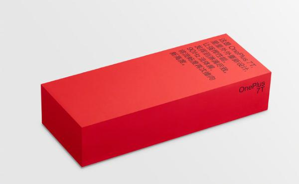 一加7T包装盒公布:中国红+90Hz流体屏