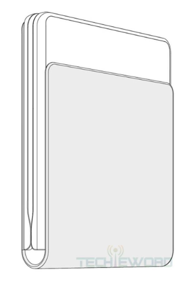 华为新机渲染图曝光:折叠屏手机又一春,垂直折叠
