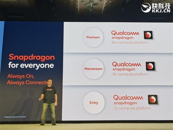 高通发布骁龙8c/骁龙7c PC平台:AI性能0.3W媲美15W