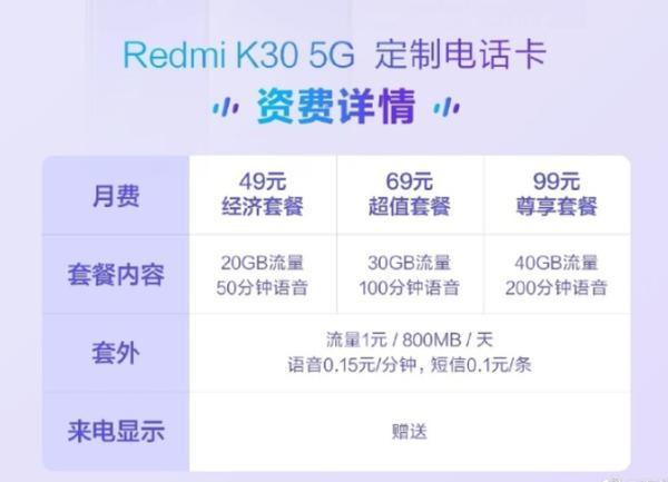 小米推出用户专属5G套餐:低至49元起,最多可享40G流量+200分钟通话