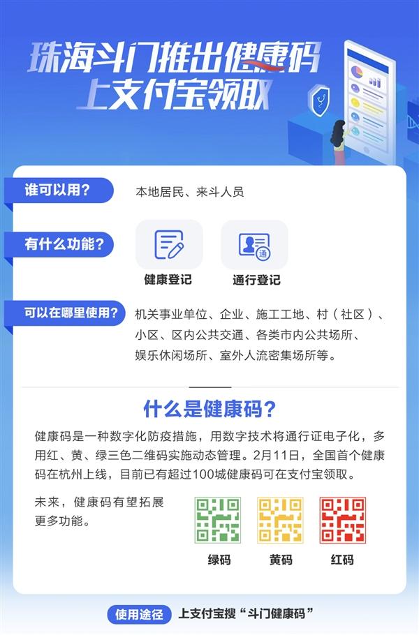 广东首个!珠海斗门上线三色健康码 一码通行
