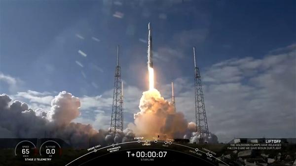 SpaceX第五批60颗卫星成功发射:四手火箭回收失败
