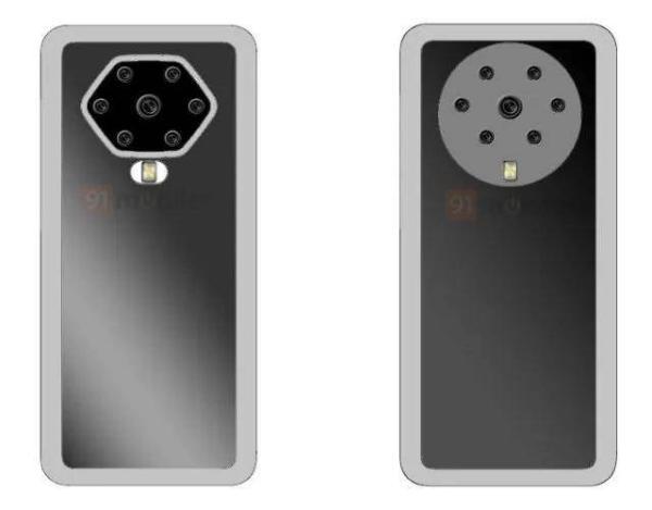 """可以赚钱的软件:OPPO发布新专利:后置七摄的""""花洒""""式模组设计"""