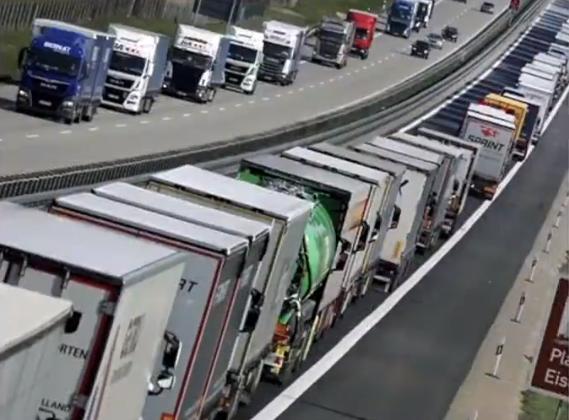 欧盟公路物流濒临崩溃 边境点3小时走300米