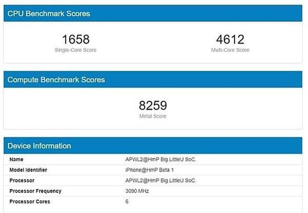 iPhone 12用上5nm A14处理器跑分曝光:3.1GHz太疯狂