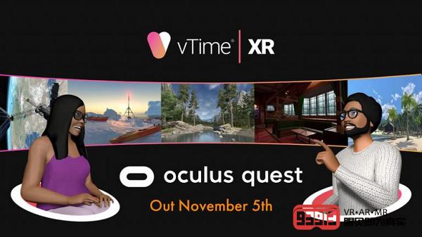 VR社交平台vTime XR即将登陆Oculus Quest