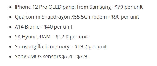 iPhone 12 Pro哪个零件最贵?高通有话说