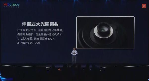 小米重磅技术宣布!伸缩式镜头、进光量暴涨3