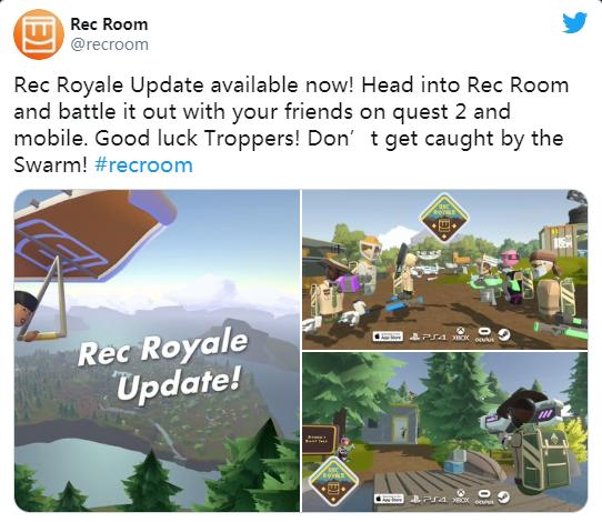 不支持Quest:VR社交应用Rec Room发布重大更新