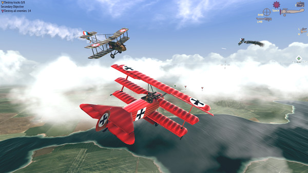 VR空战游戏「Warplanes: WW1 Fighters」登陆SideQuest