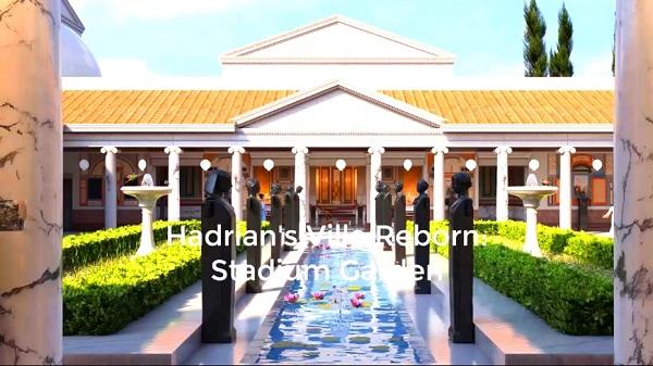 """VR博物馆体验""""哈德良的别墅重生:体育场花园""""在线Oculus应用商店"""