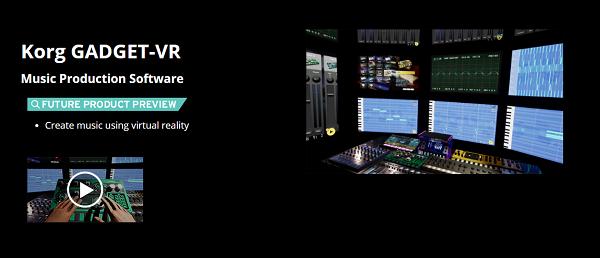 美国音乐设备经销商Korg推出了多功能音乐制作应用Gadget-VR