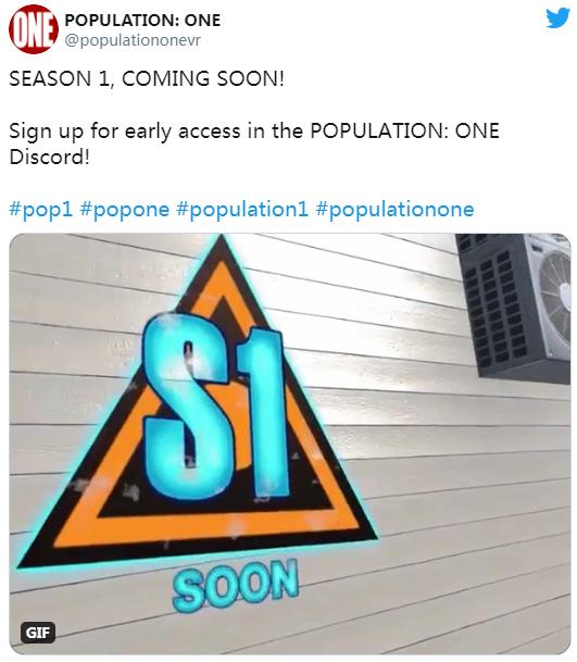 "VR""吃鸡""游戏「Population: One」""Season 1""版本即将发布"