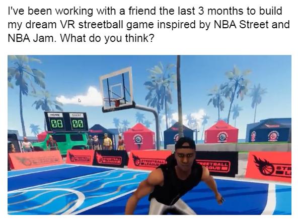 VR街头篮球游戏「Streetball League」抢先体验版即将登陆Steam