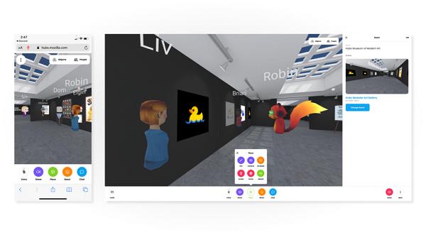 Web VR社交应用Mozilla Hubs即将发布最新更新