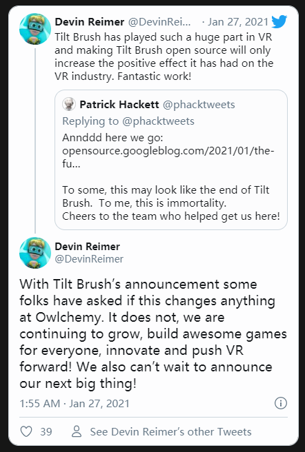 谷歌开源VR创作工具Tilt Brush