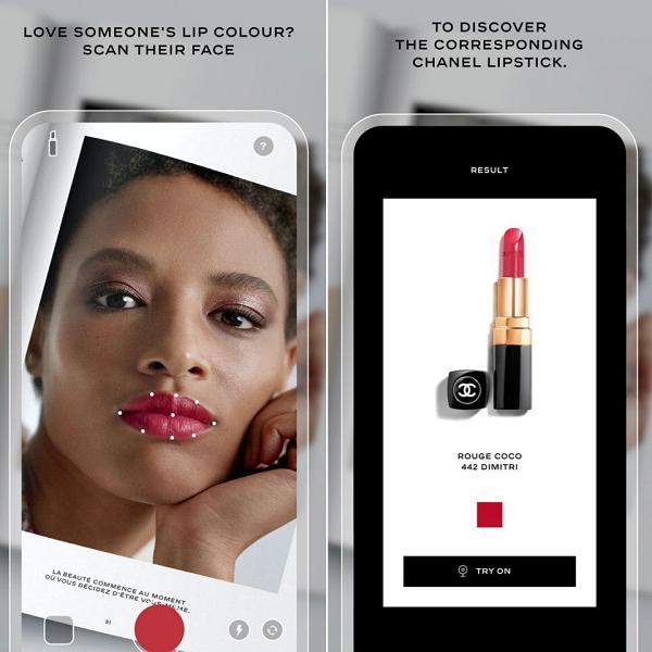 香奈儿推出口红扫描器 增强现实虚拟化妆测试的新技术