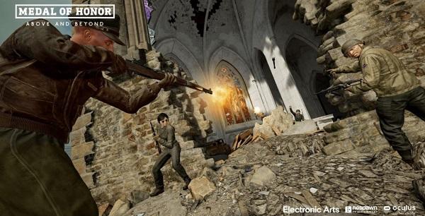VR射击游戏《荣誉勋章:超越巅峰》兼容HP混响G2