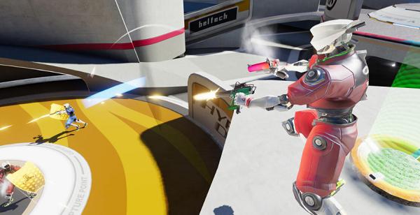 "5V5多人虚拟现实射击游戏""超级冲刺""本月登陆Oculus Quest"