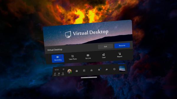 """""""虚拟桌面""""电脑虚拟现实流功能重新登录Quest应用商店"""