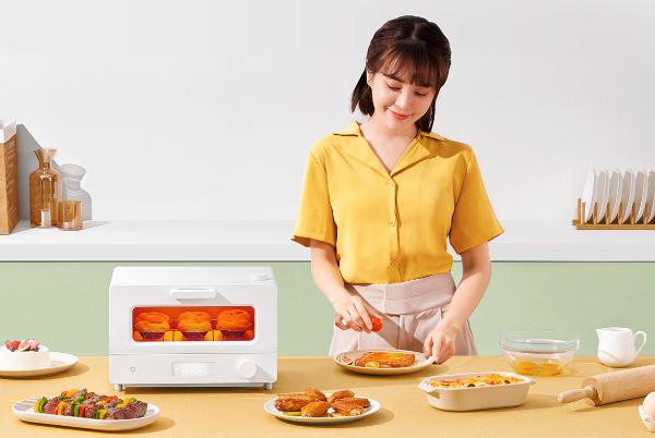 精准电子控温+蒸汽嫩烤 米家智能小烤箱众筹
