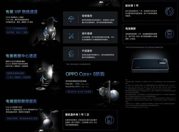 买手机赠送VIP待遇,OPPO Find X3系列这几大权益给你顶级体验