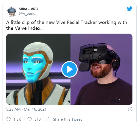 VIVE面部追踪器可支持Index等其他PC VR头显