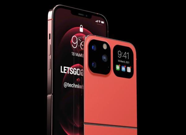 折叠屏iPhone渲染图曝光:上下对折、还是有刘海