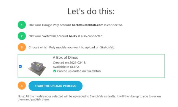 Sketchfab推出谷歌Poly文件移植工具Poly-to-Sketchfab Too