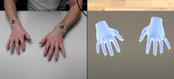 苏黎世联邦理工学院通过TapID骨传导腕带改善VR文本输入体验