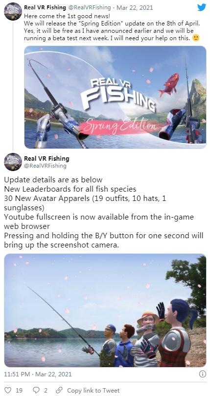 "VR多人休闲游戏「Real VR Fishing」即将推出""Spring Edition""免费更新"