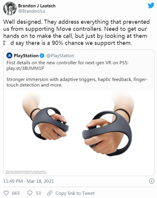 """""""90%几率采用并兼容""""PS5次世代VR手柄,「Boneworks」或登陆PSVR"""