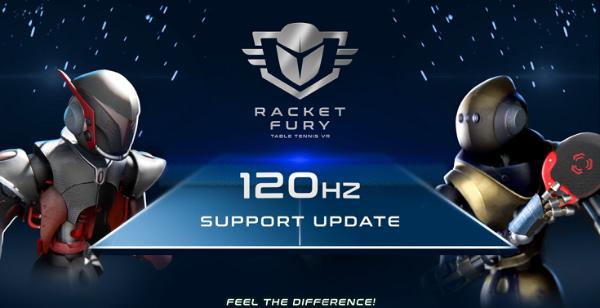 VR体育游戏「Racket Fury:Table Tennis VR」Quest 2支持120Hz刷新率