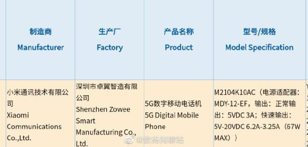 Redmi游戏手机放大招 搭载67W安卓之光同款充电器 