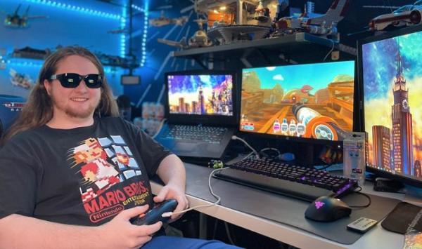 148英寸1080P全高清屏幕:美国AR智能眼镜厂商NuEyes推出游戏型Pro 3e智能眼镜