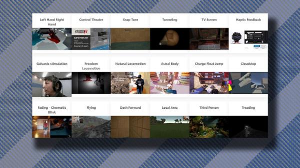 收录109种VR交互运动技术:Locomotion Vault数据库旨在满足未来VR交互市场需求