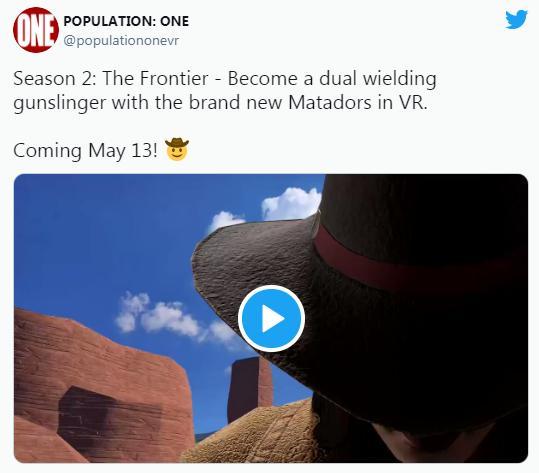 """VR""""吃鸡""""游戏「Population: One」将于5月13日发布""""Season 2""""版本"""