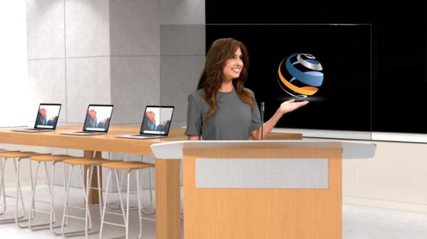 """美国全息技术服务商DVE Holographics推出""""Holo-Podiums""""全息会议解决方案"""